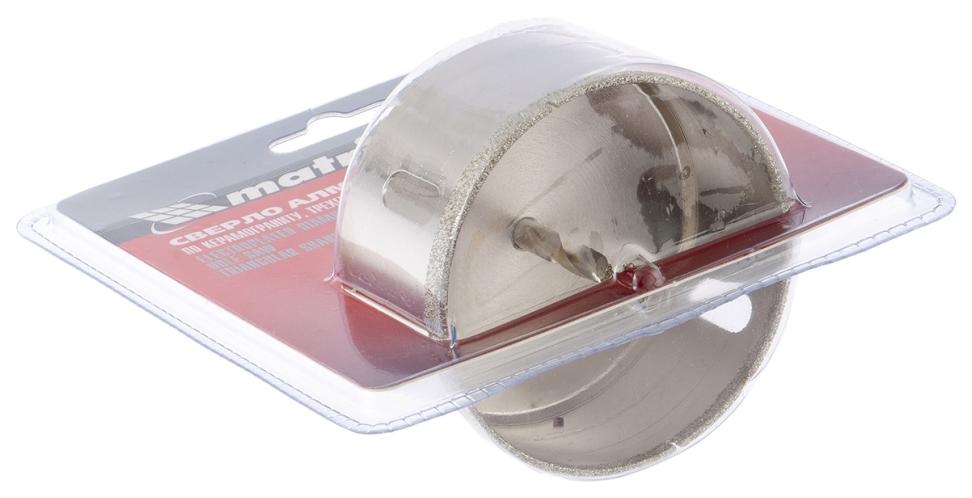 Сверло алмазное по керамограниту, 120x67 мм, 3-гранный хвостовик// MATRIX