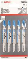 Bosch 5 лобзиковых пилок t118g, hss лобзиковые пилки