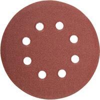 """Круг абразивный на ворсовой подложке под """"липучку"""", перфорированный, P 400, 125 мм, 5 шт.// Matrix"""