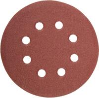"""Круг абразивный на ворсовой подложке под """"липучку"""", перфорированный, P 240, 125 мм, 5 шт.// Matrix"""