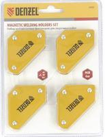Набор из 4 магнитных фиксаторов для сварочных работ// Denzel