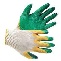 Перчатки двойной облив зеленые