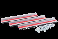 Направляющая шина для минипилы PMS 89-TS (3 шт, общая длина 125 см, 2 струбцины)