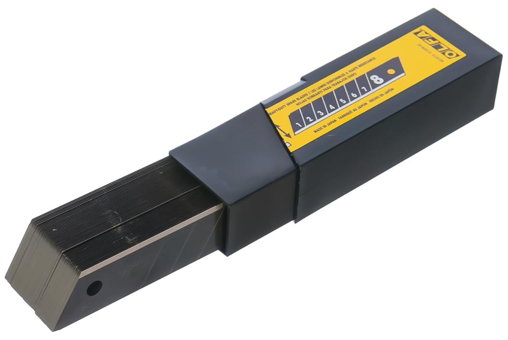 Лезвие OLFA BLACK MAX сегментированное, 8 сегментов, 18х100х0,5мм, 50шт