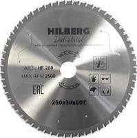 Диск пильный серия Hilberg Industrial Металл 250*60Т*30 mm HF250