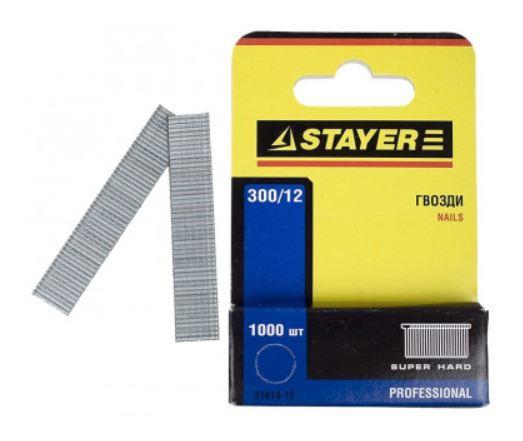 """Гвозди STAYER """"PROFI"""" закаленные для степлера, тип 300, 12мм, 1000шт"""