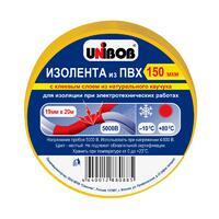 Unibob изолента 19х20мм Желтая