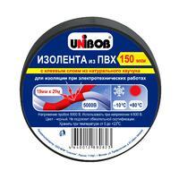 Unibob изолента 19х20мм Черная