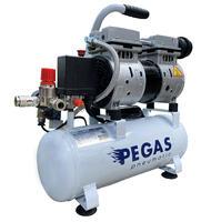 Компрессор бесшумный, PEGAS PG-600/безмасляный 6л 6605