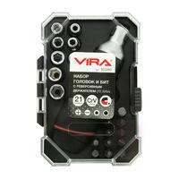 Набор головок и бит с реверсивным держателем VIRA 21 предмет 305080