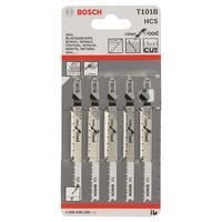 Bosch 5 лобзиковых пилок t 101 b, hcs лобзиковые пилки
