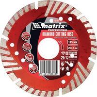 Диск алмазный отрезной сегментный с защитными сект, 150 х 22,2 мм, сухая резка// MATRIX Professional