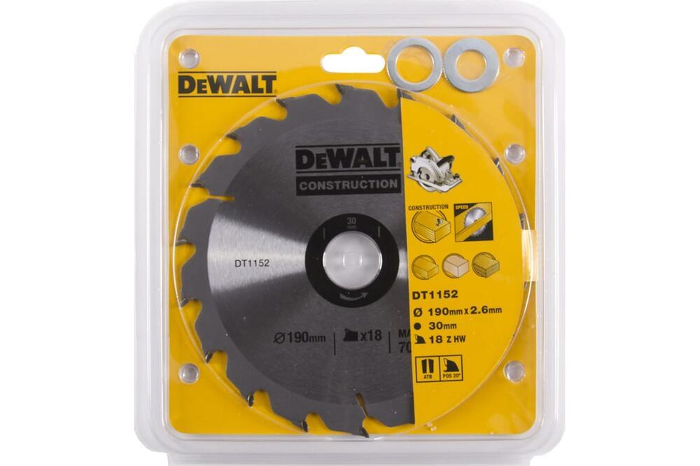Диск пильный по древесине 190х30 мм DeWALT DT 1152