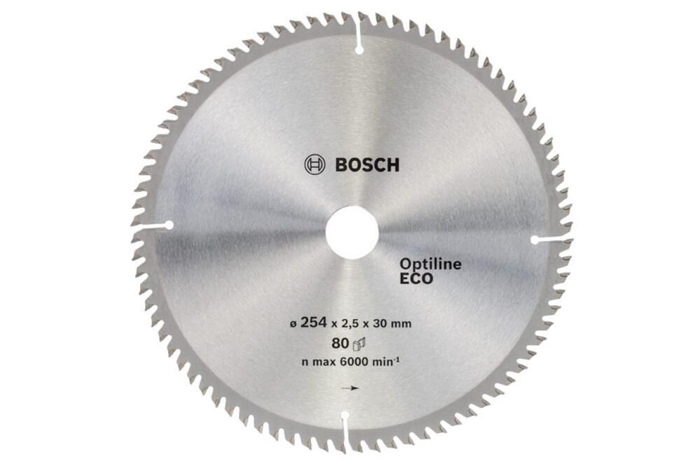 Bosch циркулярный диск 254x30x80 optiline eco циркулярные диски