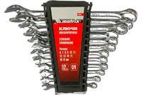 Набор ключей комбинированных, 6 - 22 мм, 12 шт., CrV, полированный хром// Matrix