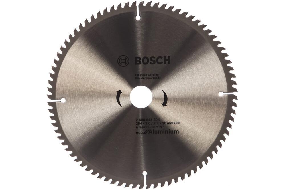 Пильный диск Bosch ECO WO 254x30-80T по алюминию