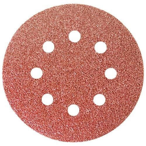 """Круг абразивный на ворсовой подложке под """"липучку"""", перфорированный, P 80, 125 мм, 5 шт.// MATRIX"""