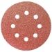 """Круг абразивный на ворсовой подложке под """"липучку"""", перфорированный, P 36, 125 мм, 5 шт.// MATRIX"""