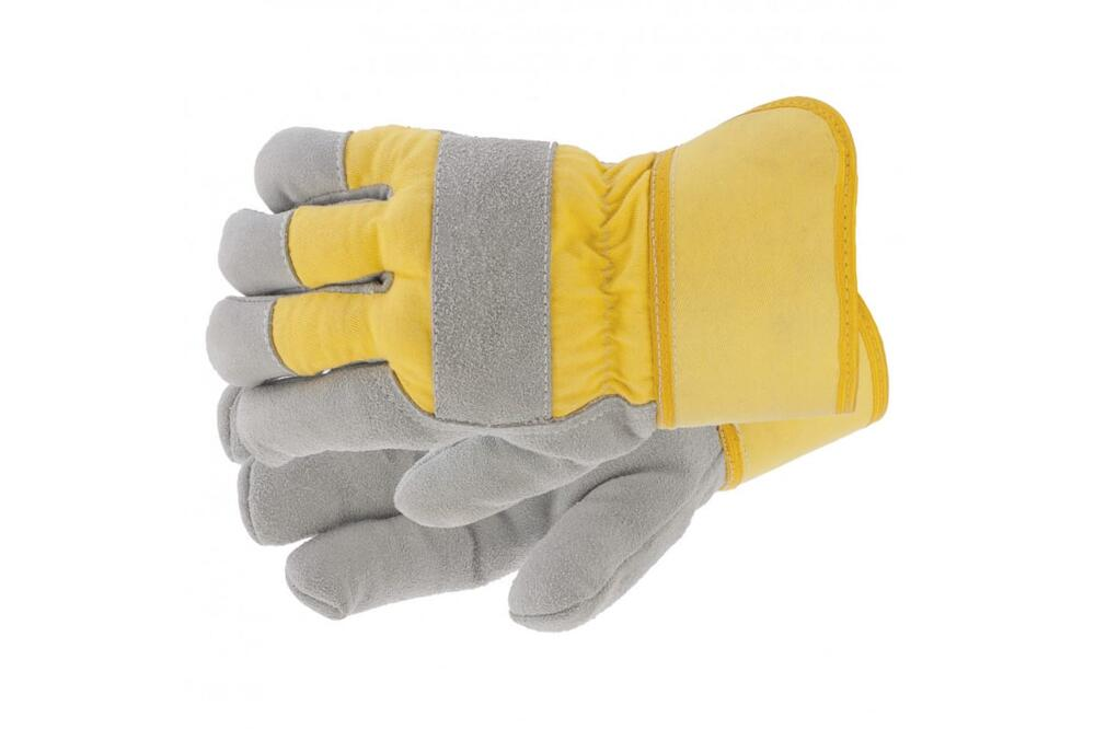 67903 Перчатки спилковые комбинированные усиленные,утолщенные,размер XL//Сибртех