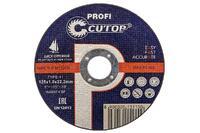 Диск отрезной по металлу CUTOP PROFI Т41-125x1,0x22,2мм 39983Т