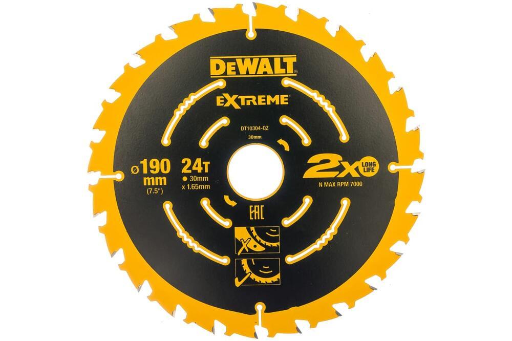 Диск пильный Extreme по дереву (190х30х1,65 мм; Z24) DeWALT DT 10304