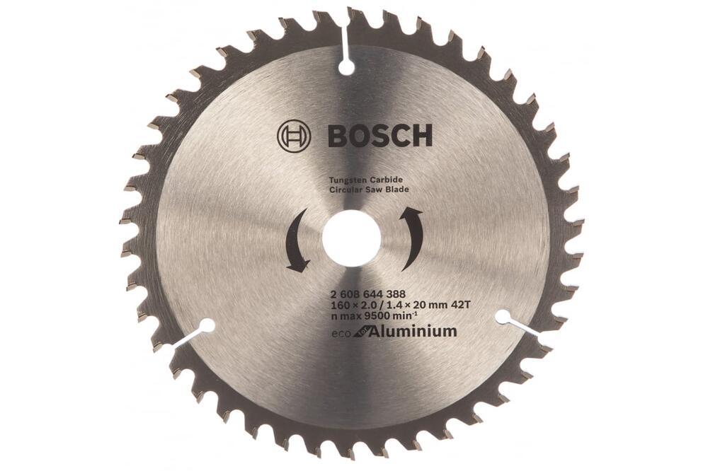 Диск пильный по дереву, (Aluminium) 160x20 мм, 42Т, Bosch 2608644388-879