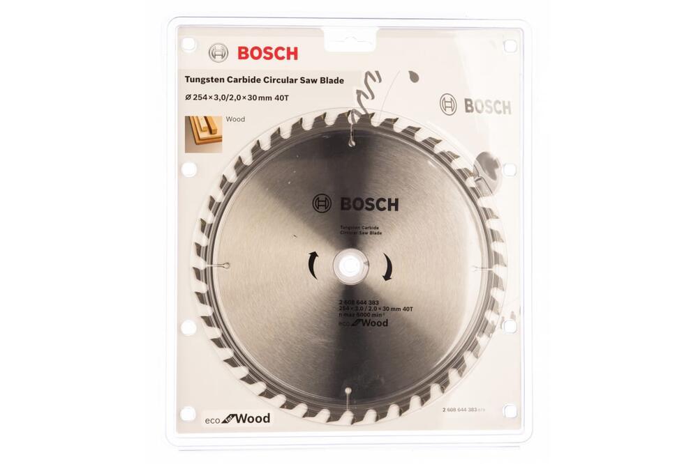 Пильный диск Bosch ECO WO 254x30-40T по дереву 2608644383