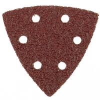 """Треугольник абразивный на ворсовой подложке под """"липучку"""", перфорированный, P 80, 93 мм, 5 шт Matrix"""