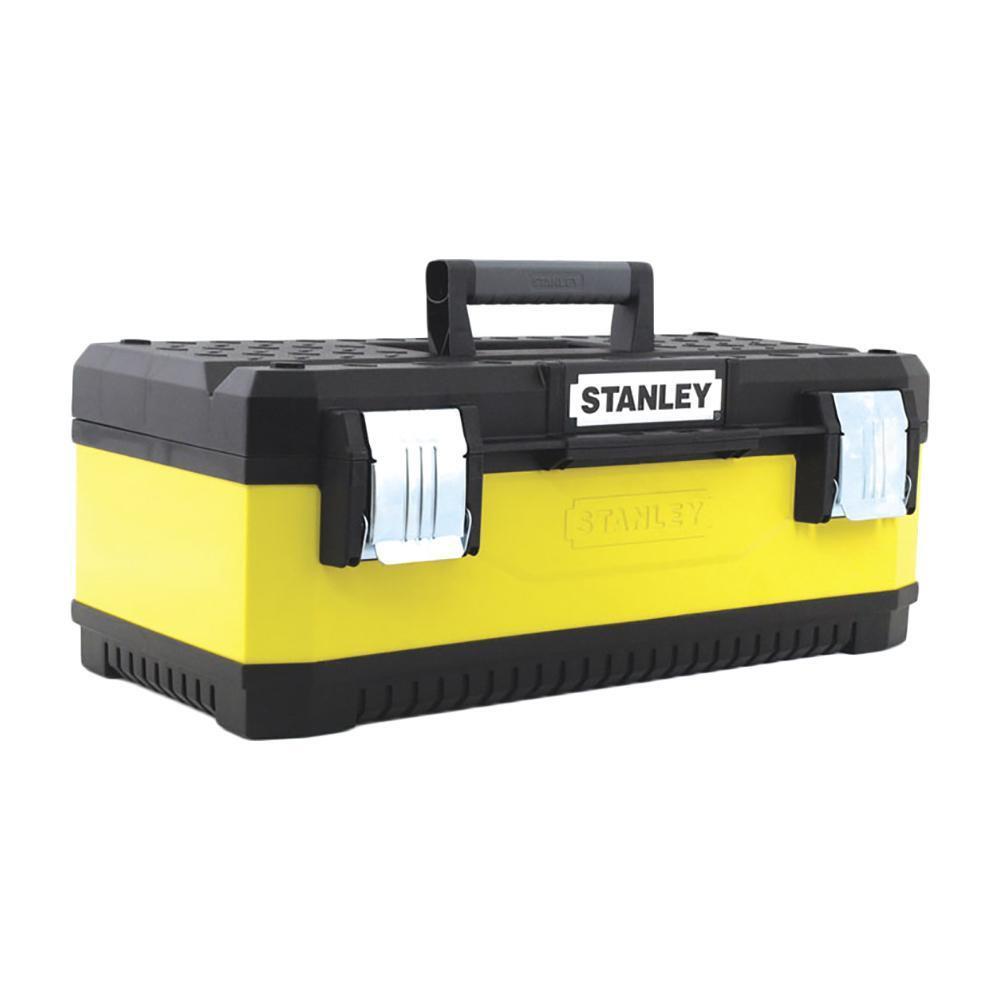 """Stanley ящик для инструмента """"stanley"""" металлопластмассовый желтый (20080) 20"""" / 50,8 x 30,3 x 89,3cm (1-95-612)"""