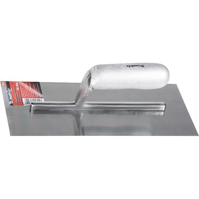 86732 Гладилка стальная,280х130мм,зеркальная полировка,деревянная ручка//Matrix