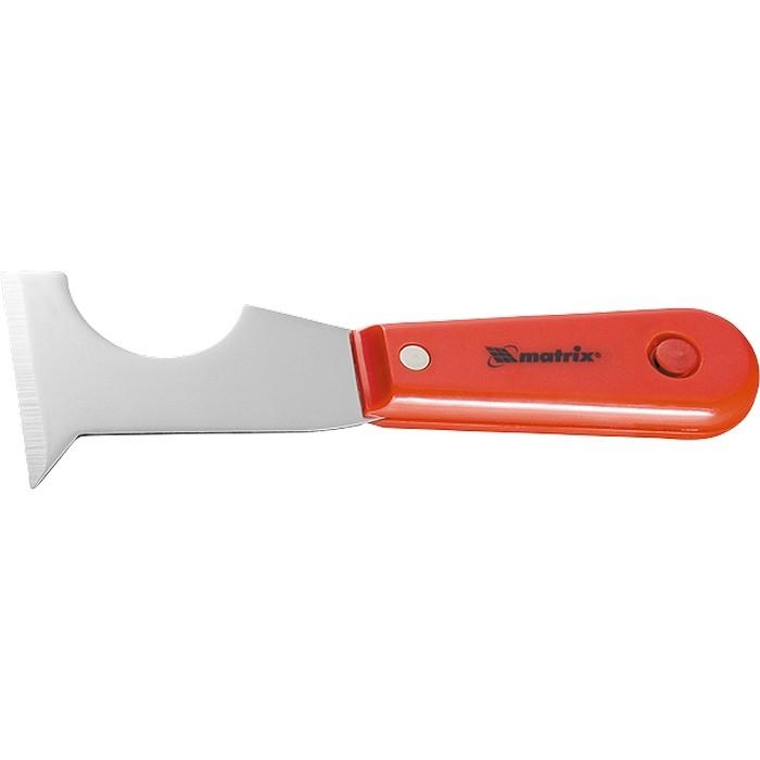 Шпатель-скребок стальной, пластмассовая ручка// MATRIX