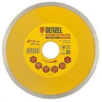 Диск алмазный отрезной ф125 х 22,2 мм, Сплошной, мокрое резание// Denzel