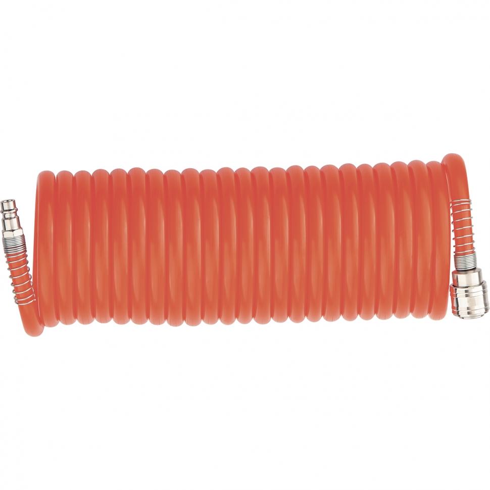 Шланг для компрессора спиральный воздушный 10 м с быстросъемными соединениями// MATRIX