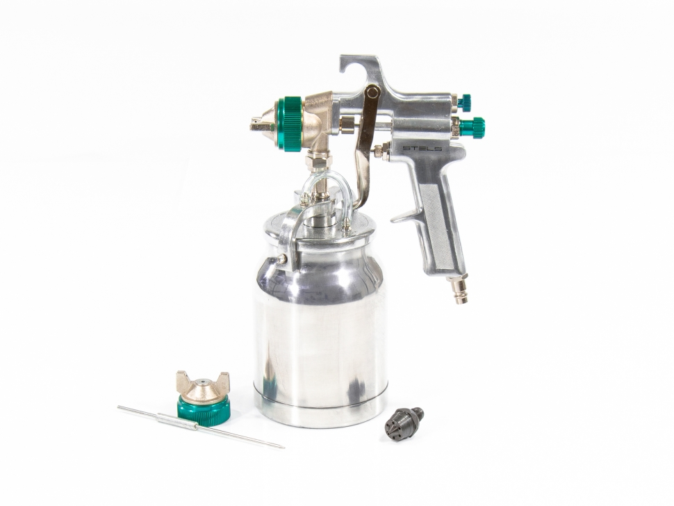 Краскораспылитель AS 702 НP  профессиональный, всасывающего  типа, сопло 1,8 мм и 2,0 мм // Stels