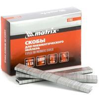 Скобы для пневматического степлера 18GA, 1,25 х 1 мм длина 22 мм ширина 5,7 мм, 5000 шт Matrix