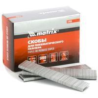 Скобы для пневматического степлера 18GA, 1,25 х 1 мм, длина 13 мм, ширина 5,7 мм, 5000 шт Matrix