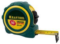 """Рулетка KRAFTOOL """"EXPERT"""" """"GRAND"""", двухкомпонентный корпус, двусторонняя шкала, нейлоновое покрытие, 10мх30мм"""