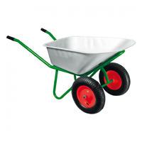Тачка садово-строительная, 2-х колесная, усиленная, грузоподъемность 320 кг, объем 100 л// Kronwerk