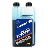 Масло 2-х тактное полусинтетическое PATRIOT SUPER ACTIVE 2T дозаторная 0,946.л