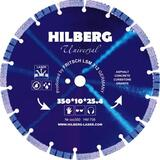 Диск алмазный hilberg 350x10x25.4 по бетону HM708