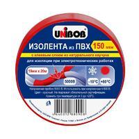 Unibob изолента 19х20мм Красная