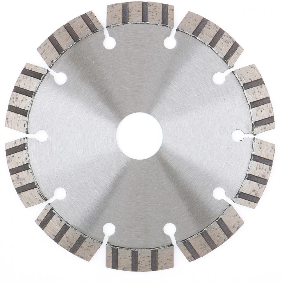 Диск алмазный ф115х22,2мм, лазерная приварка турбо-сегментов, сухое резание // GROSS