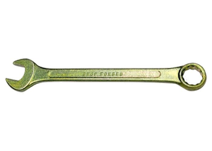 Ключ комбинированный, 30 мм, желтый цинк// СИБРТЕХ