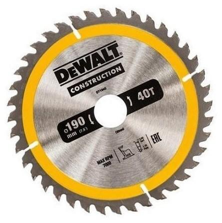 Пильный диск CONSTRUCT 190/30 40 ATB +10° DeWalt