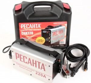 Сварочный аппарат инверторный САИ 220 в кейсе Ресанта
