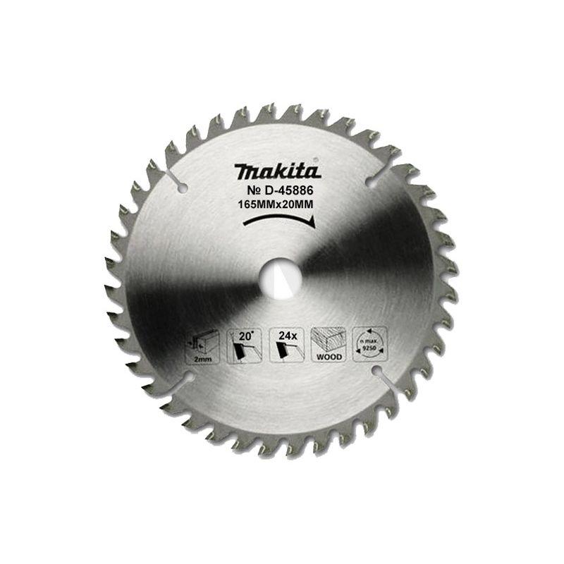Makita D-45886 Диск пильный   Standard,ф165х20х2мм,24зуб, д\дерева