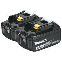 Аккумулятор + зарядное устройство Makita DC18RC-1шт. + BL1830B-2шт., 18V, Li-Ion, 3Ah
