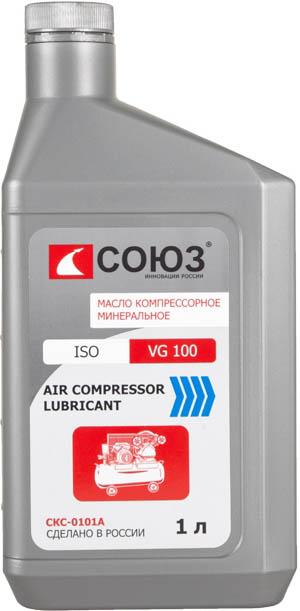 Масло СОЮЗ компрессорное СКС-0101А  AIR COMPRESSOR LUBRICANT, VG100, 1л