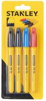 Набор из 4-х маркеров (красный, синий, черный 2 шт.) STANLEY, STH81391-0.