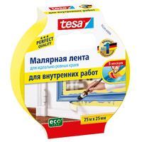 Скотч малярный TESA 25x25 желтый
